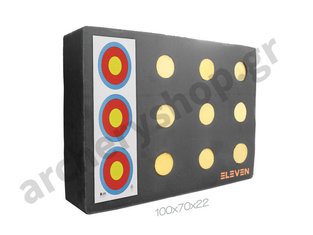 Eleven Plus Target Polyfoam 70 x 100 x 20 cm with 12 x 9,5 cm EZ-Pull Insert