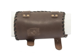 Buck Trail Traditional Armguard Tribal 18cm Brown Leather