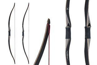 "Buck Trail Metis 60"" Ambidextrous Hybrid Bow With Black Glass"